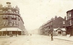 Clifton Street, Blackpool viewed from Talbot Square c1870. The photographer was E Gregson. To the left is the 'Assembly Room, Luncheon Bar, Restaurant and Billiard Room' which became Yates's Wine Lodge in 1896 and was destroyed by fire in 2009.