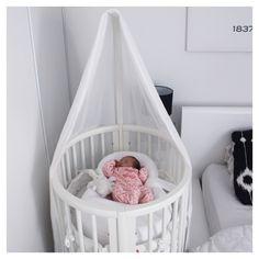 @boho_addict - Baby girl nursery - Sleepi Mini Stokke Crib                                                                                                                                                      More