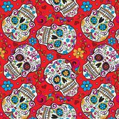 5 Yards Halloween Skull Print FOE Fold Over Elastic Elastic by the yard 58 Sugar Skull