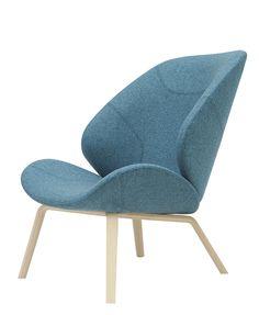 Contemporary armchair - EDEN by Busk & Hertzog - SOFTLINE A/S