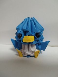 Oliver the Baby Bluebird 3D Origami by JustSoStudios on Etsy, £5.00