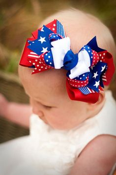 fourth of july hair bows diy