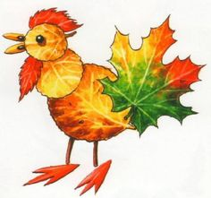 Creative Ideas on Leaf Art Autumn Crafts, Fall Crafts For Kids, Autumn Art, Nature Crafts, Art For Kids, Leaf Projects, Art Projects, Leaf Animals, Leaf Crafts