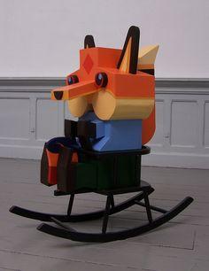 ", Ready2Rumbl's ""Reinaert de Vos"" Hand-Painted Wooden Toy!"