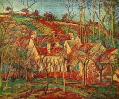 "Obra del pintor francés Camille Pissarro (1830-1903). ""Los tejados rojos"" (1877). Musée d'Orsay. /// Work by the French painter Camille Pissarro (1830-1903). ""The red roofs"" (1877). Musée d'Orsay."