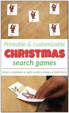 Free Customizable Printable Christmas Search Games from Gift of Curiosity Christmas Arts And Crafts, Christmas Activities For Kids, Preschool Learning Activities, Christmas Gift For You, Preschool Christmas, Crafts For Kids, Preschool Ideas, Christmas Games, Holiday Fun