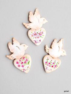 Gohart, podziękowanie dla gości, magnes, zimna porcelana, ślub kwiaty, ręcznie malowane, gifts for guests, wedding, cold porcelaine