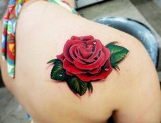 Rose tattoo- I am not normally a fan of rose tattoos but this is awesome