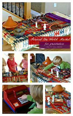 around the world market for preschoolers by Stay At Home Educator