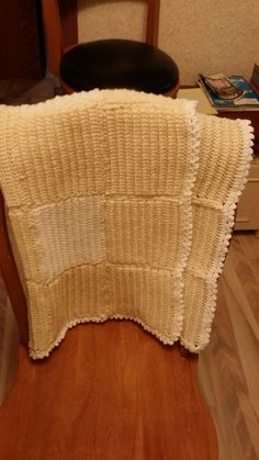 Golden yellow granny squares with white trim. Golden Yellow, White Trim, Granny Squares, Baby Quilts, Blankets, Home, House, Blanket, Rug