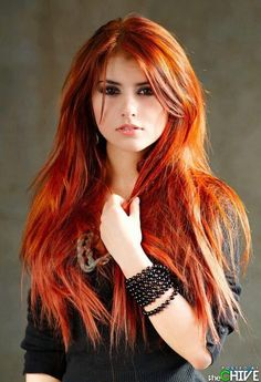 Long Red Hair with Bangs!! New beautiful color with bangs, for me? What do you think @nicolevandale