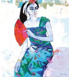 DJ. Rachmansjah (Sumedang, 1942) - Gadis Dengan Kipas, 1994.
