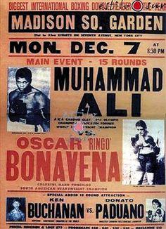 Histórica pelea de Muhammad Ali vs. Ringo Bonavena.