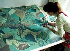 Курсы батика Музы Кирницкой / Silk painting workshops / батик, курсы батика…