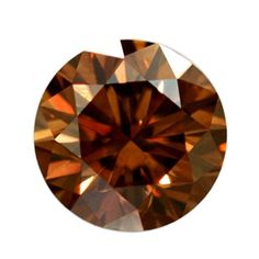 0.55 Cts Fancy Brown Loose Diamond Natural Color Round Cut Diamond