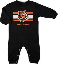 Cincinnati Bengals Newborn Black Long Sleeve Coverall