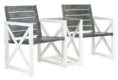 Jovanna Two-Seat Bench, Gray on OneKingsLane.com