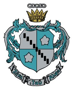 Zeta Tau Alpha---Coat of Arms (Crest) - Only initiated members may use this in any manner, which is dignified and in good taste. The ritualistic meaning of the Coat of Arms is secret and is revealed to each member at the time of her Initiation.