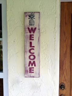A personal favorite from my Etsy shop https://www.etsy.com/listing/256691194/handpainted-wood-welcome-sign-with