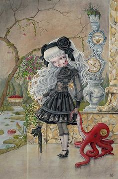 Nataly Abramovitch also known as Kukula brings her dark aesthetic to the lives of doll like figures who wear their thoughts and minds on their sleeves for all to see