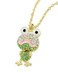 """18"""" + EXT Gold W/ Clear & Green Rhinestone Frog Necklace Retail - $14.95 You Pay - $7.48 w/ free shipping in the US."""