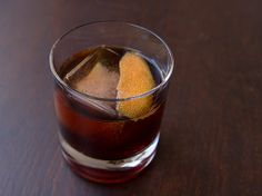 The Maloney No. 2 With Bourbon, Sweet Vermouth, Cynar, Maraschino Liqueur, Twists Liquor Drinks, Bourbon Cocktails, Fun Drinks, Alcoholic Drinks, Classic Cocktails, Beverages, Cocktail Bitters, Cocktail Drinks, Cocktail Recipes