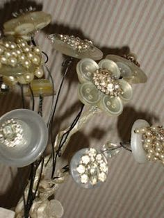 Vintage Mother of Pearl Buttons repurposed