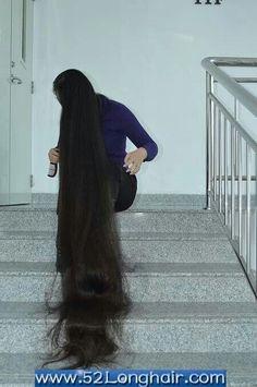 Super Long Hair, Black Hair, Hair Beauty, Tulle, High Neck Dress, Hairstyle, Long Hair Styles, Longer Hair, Dream Hair