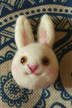 Hey, I found this really awesome Etsy listing at https://www.etsy.com/uk/listing/262694412/bunny-rabbit-brooch-needle-felt