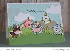 "Mama Elephant Stamp Highlight | Lunar Animals ""Birthday Wishes"" Card 