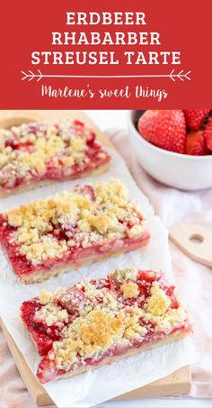 Ein einfaches Erdbeer Rhabarber Streusel Tarte: Erdbeer Rhabarber kuchen rezept mit nur einem Teig. So lecker und einfach. Das Rezept passt perfekt für die Kaffee im Frühling. Das Dessert schmeckt der ganzen Familie. Alle lieben Streusselkuchen. Easy Peasy, Cereal, Snacks, Good Food, Favorite Recipes, Eat, Breakfast, Sweet Stuff, Summer Vibes