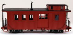 on30 trains  | Spectrum ON30 Scale Train Wood Side Caboose Oxide RED 26798 | eBay