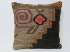 Brown pillow 20x20 large cushion cover large throw pillow euro