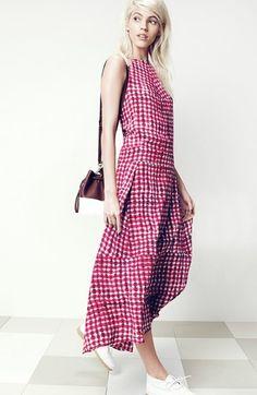 Tory Burch Print Silk Midi Dress