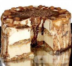 Coffee Carlota cake step by step - Easy - Coffee Carlota Cake Recipe - Great Desserts, Delicious Desserts, Dessert Recipes, Yummy Food, Cheesecake Cake, Cheesecake Recipes, Poke Cakes, Cupcake Cakes, Mexican Food Recipes