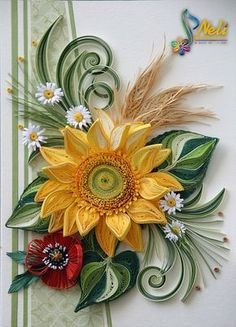 Neli is a talented quilling artist from Bulgaria. Her unique quilling cards bring joy to people around the world. Neli Quilling, Paper Quilling Cards, Paper Quilling Flowers, Quilling Work, Paper Quilling Patterns, Paper Flowers Craft, Quilling Paper Craft, Quilling Ideas, Fall Paper Crafts