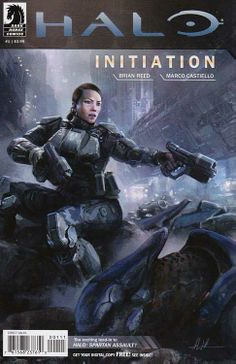 Halo - one of the largest video game franchises - comes to Dark Horse! Before she was a supersoldier defending humanity as part of the Spartan IV program, Sarah Palmer was an ODST-Orbital Drop Shock Trooper-carrying out the most dangerous missions behind enemy lines! Regular John Liberto Cover  #darkhorsecomics #halo #comicbooks #videogames