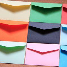 Renkli Zarflar 11x8 cm 13 Renk Kağıt Zarf 100 Adet Banka Kartı/Üyelik Kartı Özel Zarflar