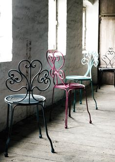 Painted vintage chairs