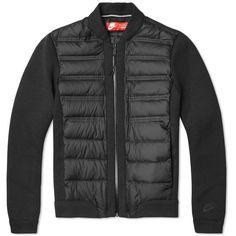 Nike Women's Tech Fleece Aeroloft Bomber Jacket (1.370 DKK) ❤ liked on Polyvore featuring activewear and activewear jackets