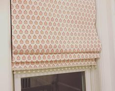 Faux Roman Shade/ Lined Mock Valance/ Fake Roman Shades/ Gray Beige Geometric/ Custom Sizing Available! Pinch Pleat Curtains, Pleated Curtains, Rod Pocket Curtains, Drapery Fabric, Lining Fabric, Curtain Panels, Linen Roman Shades, Blackout Roman Shades, Faux Roman Shades