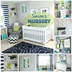 Organizado el cuarto del bebé.