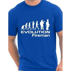 Men s Cotton O Neck T shirt Evolution Of A Fireman Firefighter T shirt More Size. Click visit to buy #T-Shirts