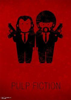 Pulp Fiction #Poster #Illustration #Design