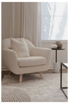 Small Living Room Furniture, Home Living Room, Living Room Designs, Living Room Decor, Bedroom Decor, Chairs For Living Room, Decorating Small Living Room, Minimalist Living Room Furniture, Ivory Living Room