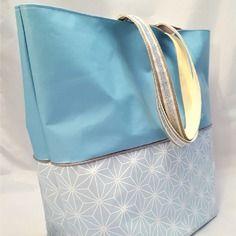 Grand sac cabas imperméable, fourre tout bleu glacier - dans mon baluchon