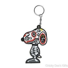 Peanuts Snoopy By Design Day of the Dog Key chain dead Halloween NEW retired