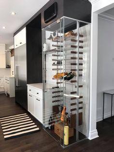 Hardware For Glass Shelves Glass Wine Cellar, Home Wine Cellars, Wine Cellar Design, Under Stairs Wine Cellar, Wine Cellar Basement, Wine Shelves, Wine Storage, Glass Shelves, Cave A Vin Design