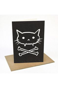 BeauWylie - Pirate Kitty - Greeting card