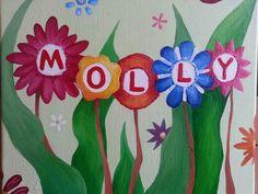 Baby girl canvas gift - acrylic on canvas-2013 KSO